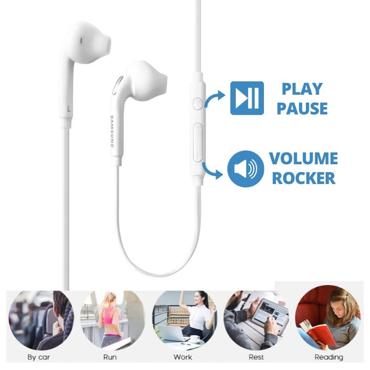Samsung Earphone EG920 For Galaxy J3 Prime (High Bass , In-Ear ,White )