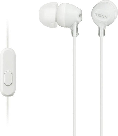 Sony MDR-EX15AP Wired Headset Handsfree Earphone (High Bass, In-Ear, White)