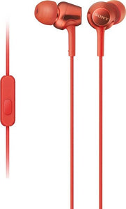 Sony MDR-EX255AP/R Wired Headset Handsfree Earphone (High Bass, In-Ear, Red)