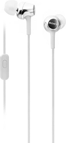 Sony MDR-EX255AP/W Wired Headset Handsfree Earphone (High Bass, In-Ear, White)