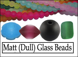 Frosted Glass Beads