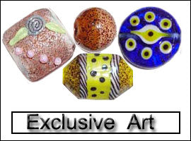 Exclusive lampwork beads