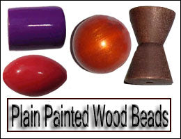 Plain Painted Wood Beads