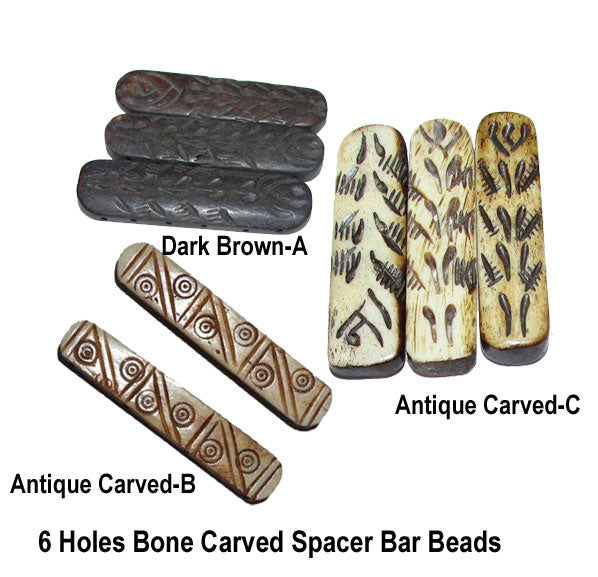 100 pieces pack, Natural Dyed, Bone Beads Spacer