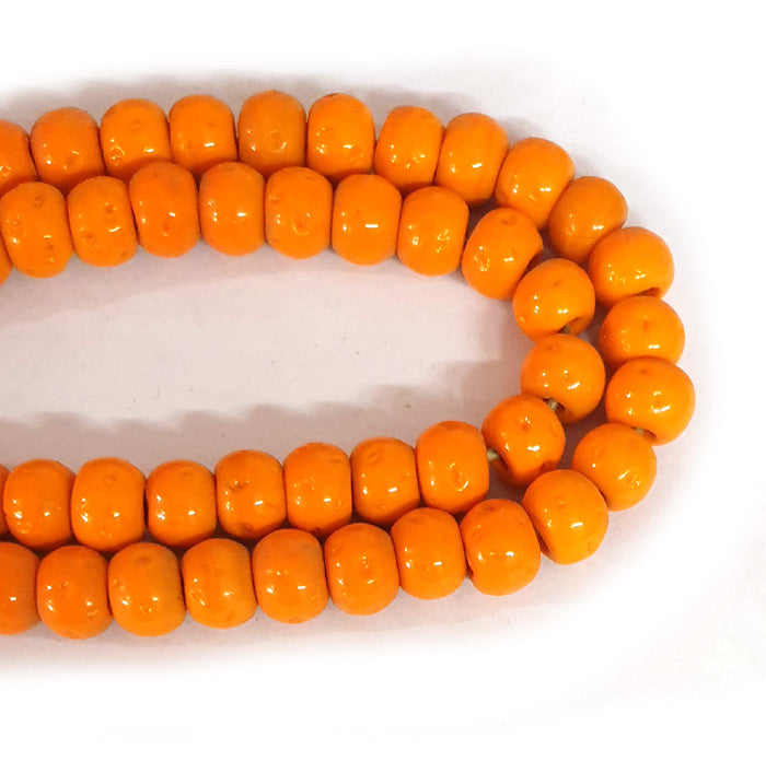 12mm Round Nepali Porous Orange Color Origin  Hole about 3~4mm By Kilo Approx Pcs in a Kilo about 550~600 Beads