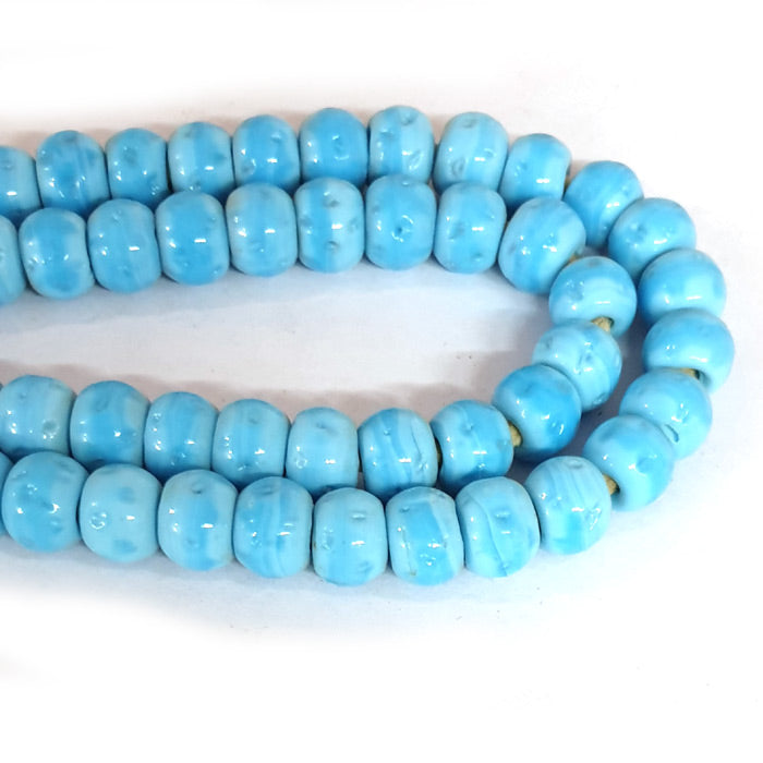 12mm Round Nepali Porous Turquoise Color Origin  Hole about 3~4mm By Kilo Approx Pcs in a Kilo about 550~600 Beads