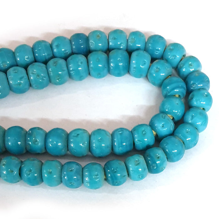 12mm Round Nepali Porous Turquoise glass Color Origin  Hole about 3~4mm By Kilo Approx Pcs in a Kilo about 550~600 Beads