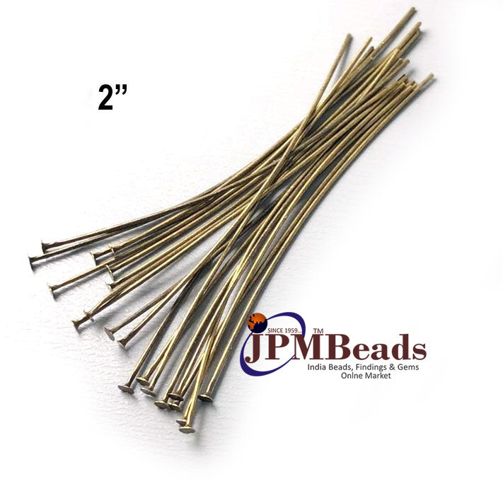 "1000 Pcs & 1 Kilo Approx 2"" Brass Material, silver,gold,copper and bronze plated flat Head pin for jewelry making findings"