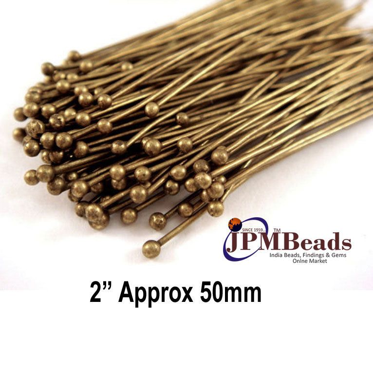 2 Inch Long 1000 Pcs & 1 kilogram package Silver Gold Copper Bronze finish Ball head pin jewelry making findings and components