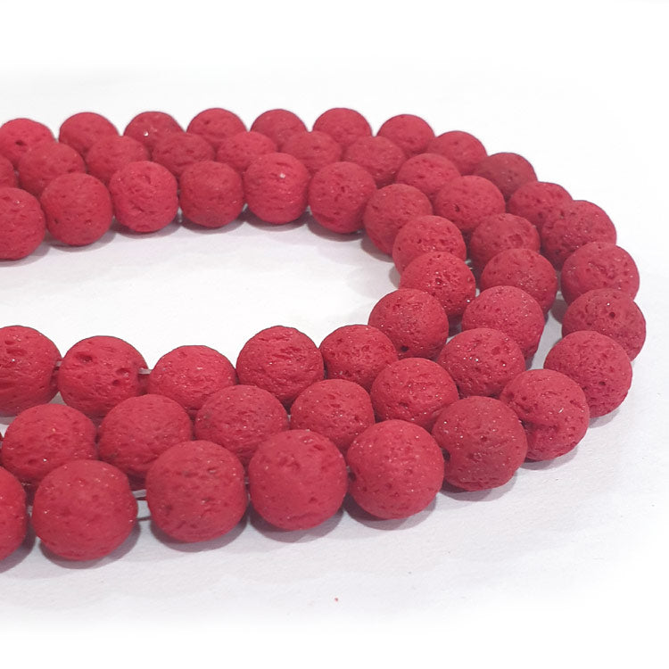 Lava Colorful Volcanic Rock Round Beads 9 Colors choice Sold Per Strand of 15~16""