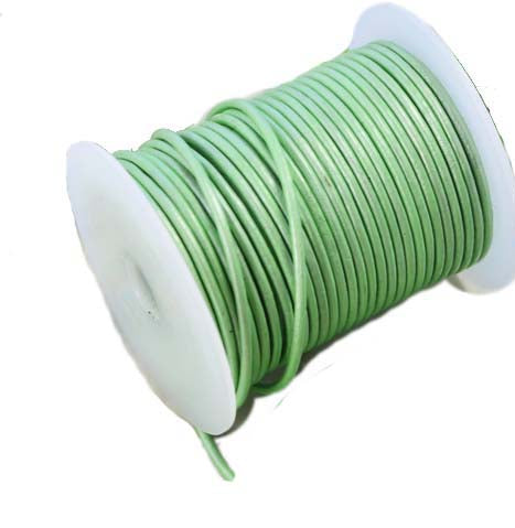 100 Meters More Shade in Metallic Green Shade Genuine Round Leather Cords Available in 0.5mm,1mm,2mm,3mm,4mm, Wholesale online india for jewelry making Great for beading, necklaces, Our Round Leather Cord is genuine and finest quality