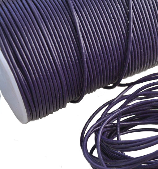 100 Meters More Shade of Purple Genuine Round Leather Cords Available in 0.5mm,1mm,2mm,3mm,4mm, Wholesale online india for jewelry making Great for beading, necklaces, Our Round Leather Cord is genuine and finest quality