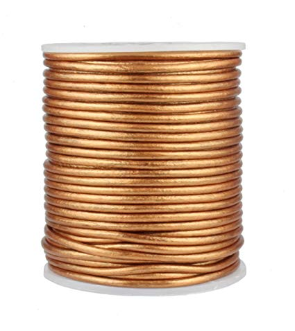 100 Meters More Shade in Metallic Gold Shade Genuine Round Leather Cords Available in 0.5mm,1mm,2mm,3mm,4mm, Wholesale online india for jewelry making Great for beading, necklaces, Our Round Leather Cord is genuine and finest quality