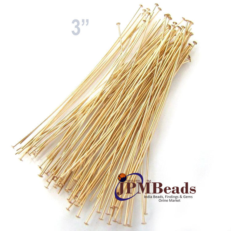 "3"" Long 1000 Pieces & 1 Kilogram Gold Silver Copper Bronze Finish flat head pin for jewelry making finding"