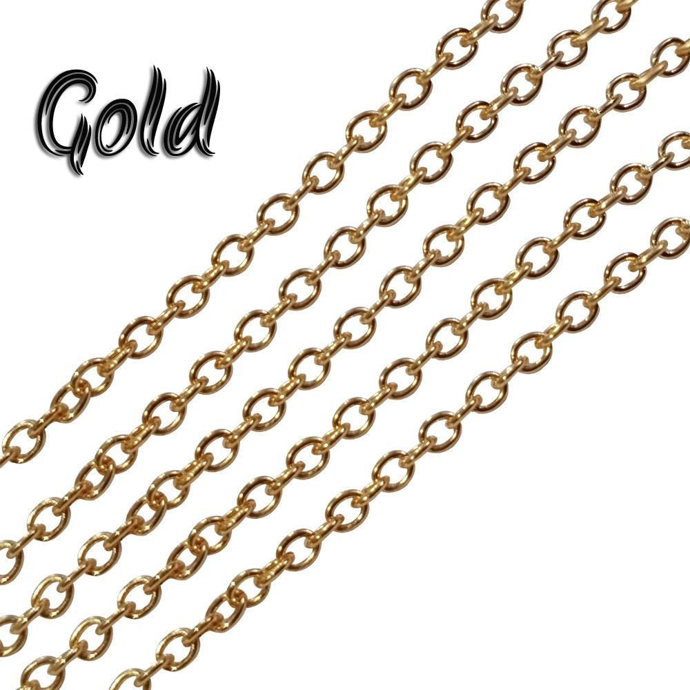 2x3-mm-nickel-gold-metal-plated-chains-sold-by-1 kg Pack
