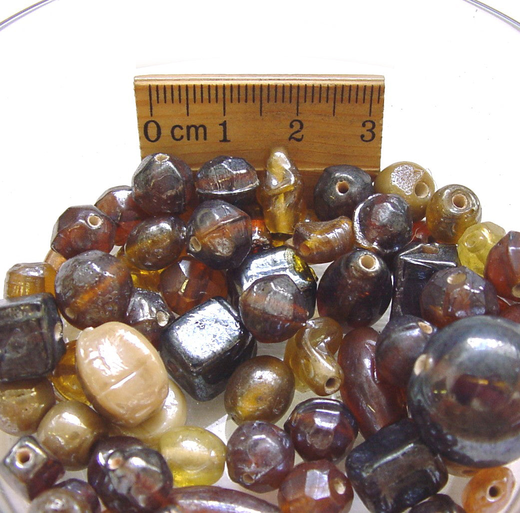 1 Kilogram 8 Colors Luster Ab Transparent and Opaque shade handmade mix glass beads