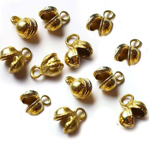 500 Pcs brass bell jewelry finding components open mouth bell