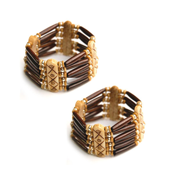10 Pieces wholesale Brown Bone hair pipe beads with multi hole bone beads spacer bracelets
