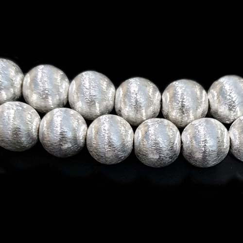 50 Pcs Plated Handmade Quality Brushed Metal Beads for jewelry Making