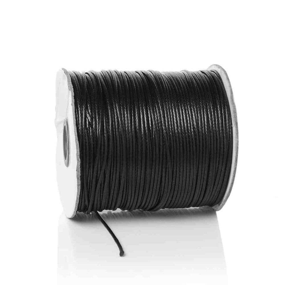 Black 100 Meters Spool Round Cotton Wax Cords Threads Laces More Color Shade Available best for jewelry making