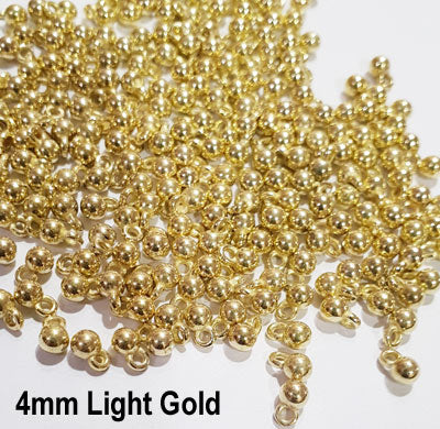 1000 Pcs 4mm Charms Acrylic Silver and Gold Ghungroo adornment for Jewelry