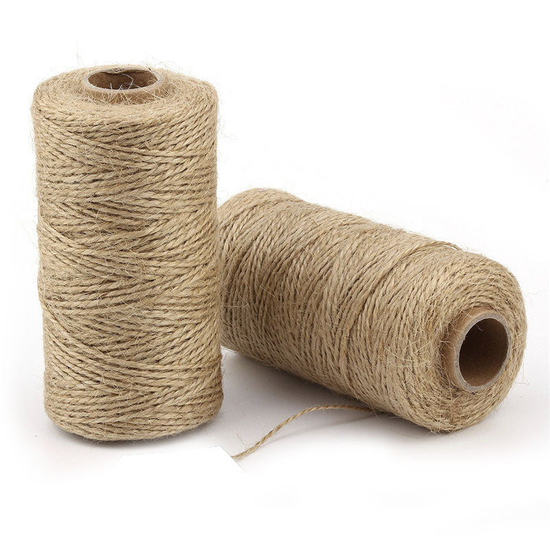 10 Colors Choice 100 M Natural Jute Twine Cord Hemp Rope jewelry craft Gift Wrapping Cords Thread DIY Scrapbooking Craft Decor