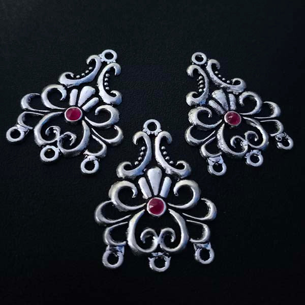 8 Pieces Package 25x31 mm, Stone studded connectors, Can be also used as Earring Base, Sold by per piece