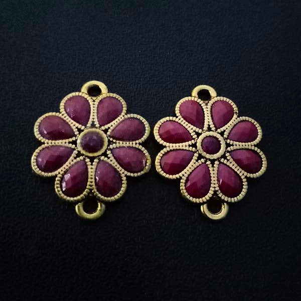 8 Pieces Package 21x15 mm, Stone studded connectors, Can be also used as Earring Base, Sold by per piece
