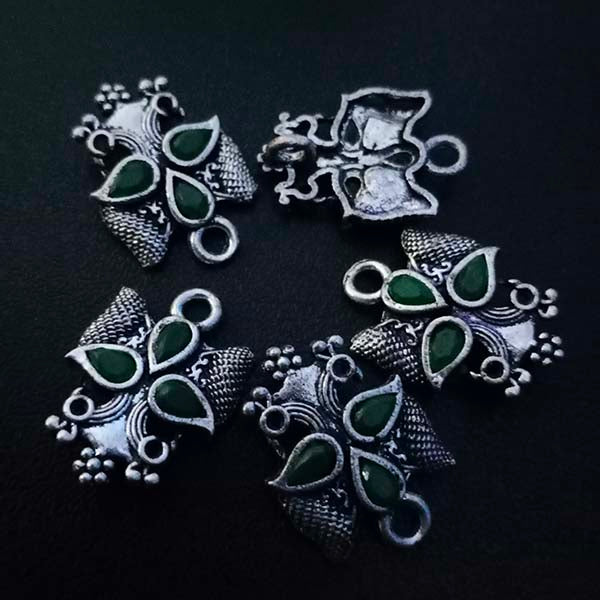 8 Pieces Package 17x24 mm, Stone studded connectors, Can be also used as Earring Base, Sold by per piece