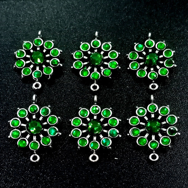 20 Pieces Package 29x21 mm, Stone studded connectors, Can be also used as Earring Base, Sold by per piece