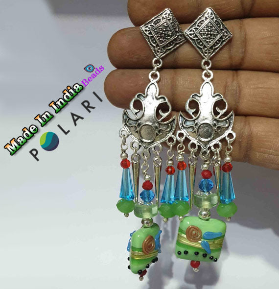 European Artistic Lampwork Beads with Metal Connectors
