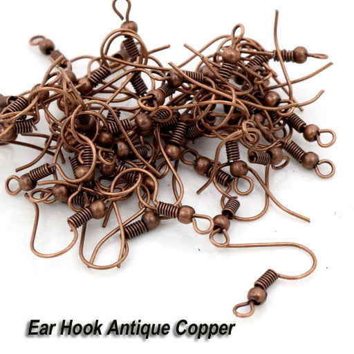 500/Pairs Pack,Ear Wire Hooks Findings Earring Making Ear Wire Hooks Copper Antiqued Plated