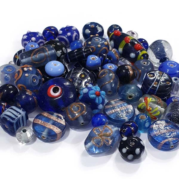 By Kilogram 10 Colors Fancy Lampwork Mix Glass Beads