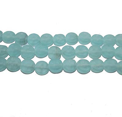 12mm Approx Size 1 Kilogram Pack large Size Frosted Glass Beads for jewelry Making