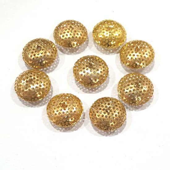 100 Pcs Pack Hollow Metal Beads 7x15mm Very Light weight Gold Plated for jewelry Making