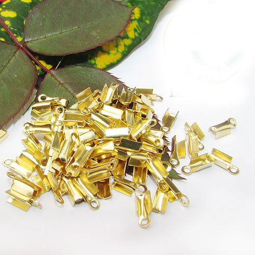 1000 Pcs Gold PlatedFor 1mm Cord Thin Tips Cord end jewelry findings