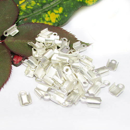 1000 Pcs Silver Plated For 2mm Cord  Tips Cord end jewelry findings