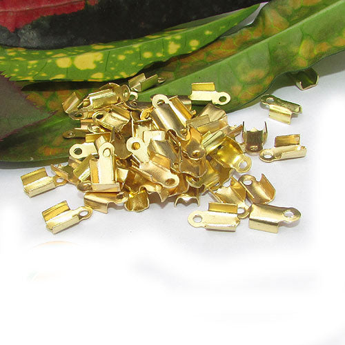 1000 Pcs Gold Plated For 2mm Cord  Tips Cord end jewelry findings