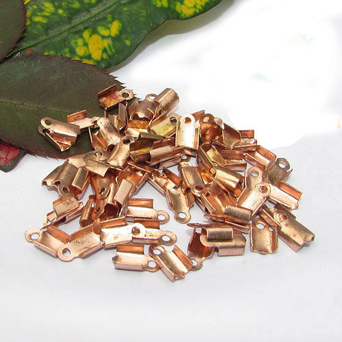 1000 Pcs copper plated For 2mm Cord  Tips Cord end jewelry findings