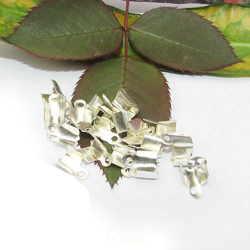 1000 Pcs Silver Plated For 3mm Cord  Tips Cord end jewelry findings