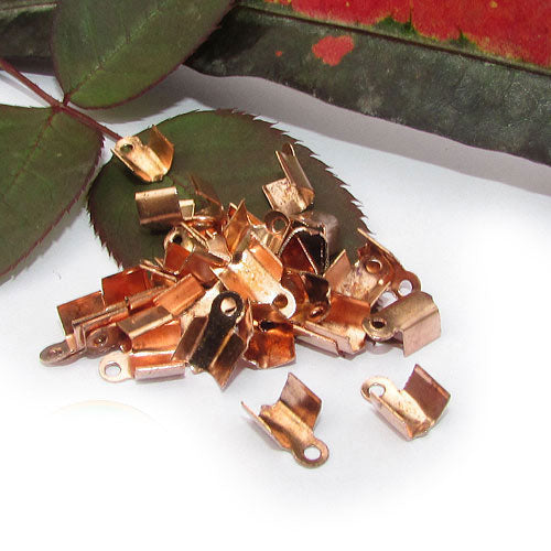 1000 Pcs Copper Plated For 3mm Cord  Tips Cord end jewelry findings