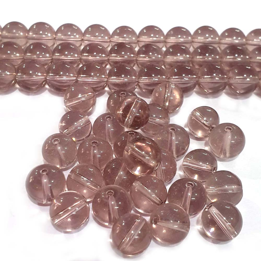 JPM Beads 500 Pieces Light Purple Round Crystal Glass Bead Jewelry Making Material Size 10mm