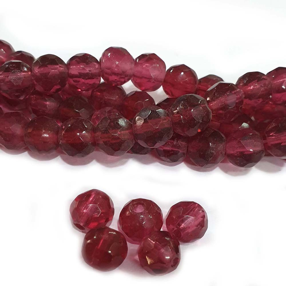 JPM Beads 500 Pieces Unique beads for jewelry making Fuchsia Pink Shape Round Glass Beads Approx 10mm Size