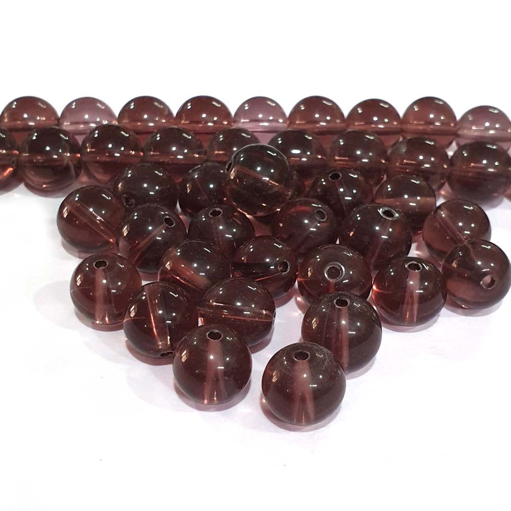 JPM Beads 500 Pieces Glass Beads for jewellery making Color Purple Shape Round Size: 10mm