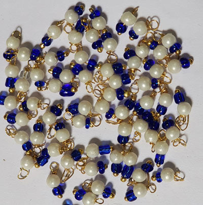 3mm Cream Imitation Pearl, Lorial Small Loop Charms