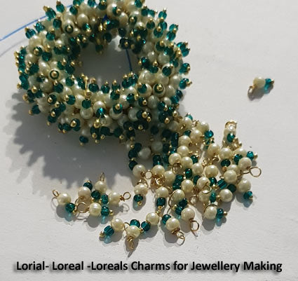 3mm Imitation Pearl, Lorial Small Loop Charms