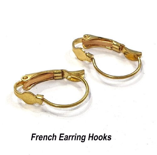 50 Pairs Gold Plated Liver Back Ear Wire Earring Making findings raw materials online wholesale