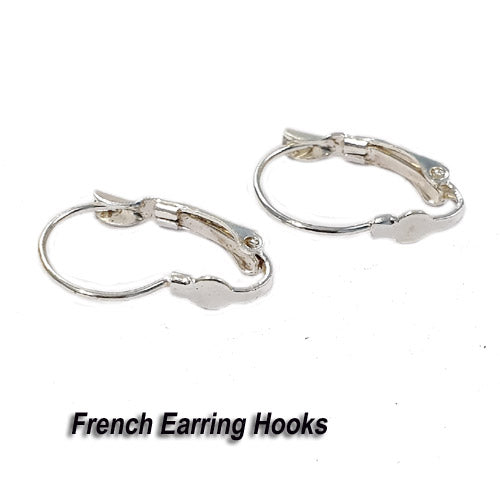 50 Pairs Silver Plated Liver Back Ear Wire Earring Making findings raw materials online wholesale