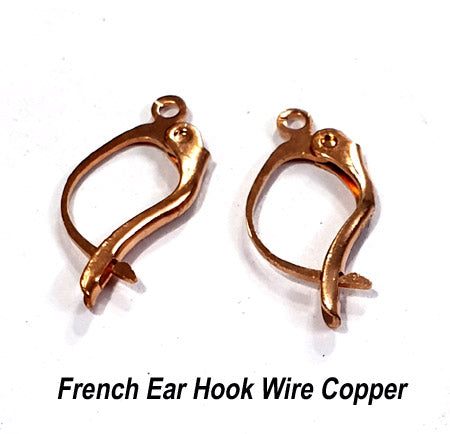 50 Pairs Copper Plated Liver Back Ear Wire Earring Making findings raw materials online wholesale