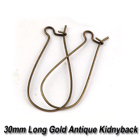 50 Pairs Bronze Plated Kidney Back Ear Wire Earring Making findings raw materials online wholesale